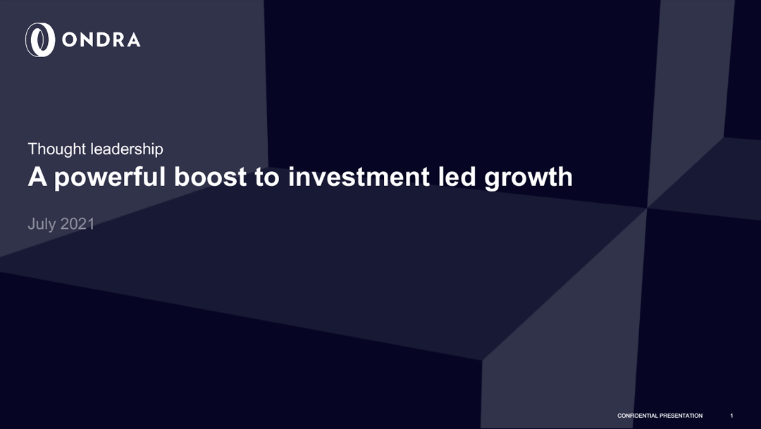 A powerful boost to investment led growth